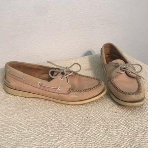 Sperry Top-Sider tan leather boat shoes 7